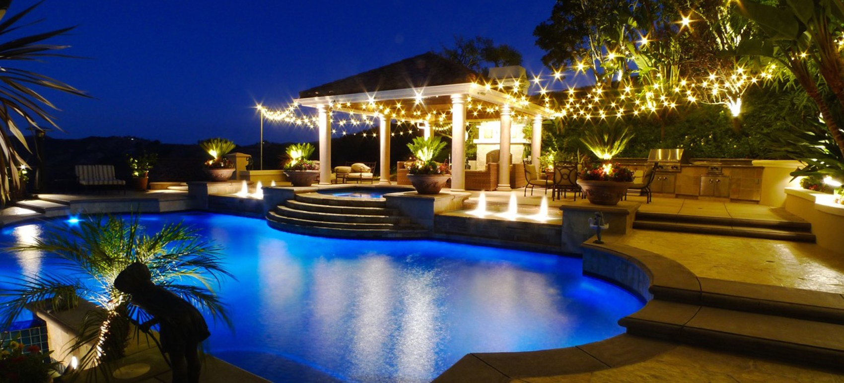 Landscape Lighting Installation - Pool Lighting
