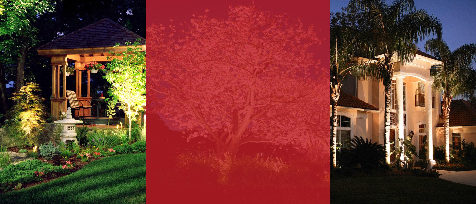 Custom Lighting Design - Elegant Landscape Lighting Design