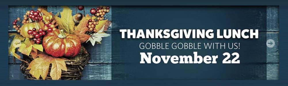 Aquarium Thanksgiving Lunch