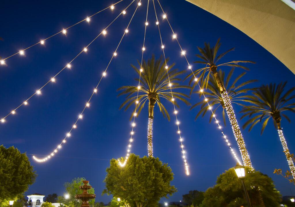 String Lights Hung Above