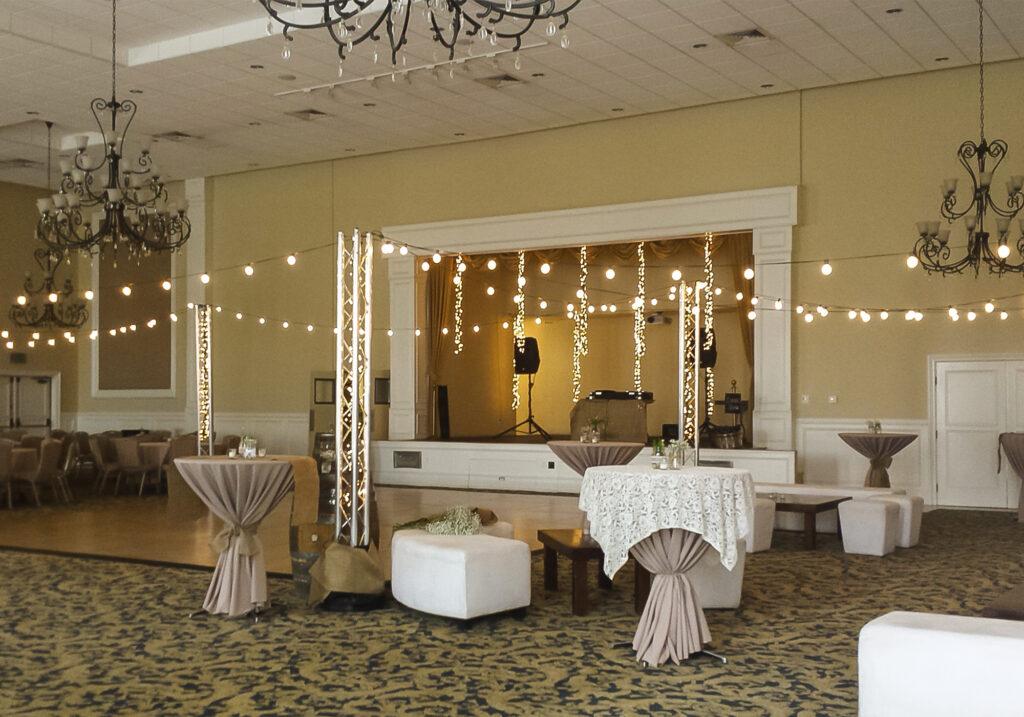 String Lights Around Dance Floor