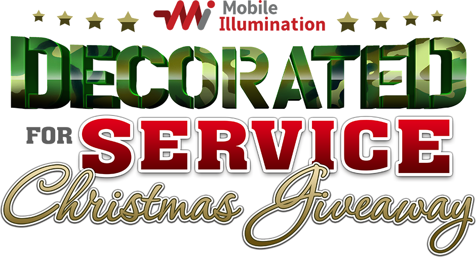 Decorated For Service Christmas Giveaway